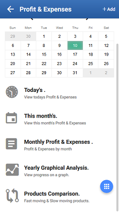 Profit & Expenses App Dashboard